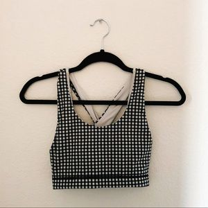 Glyder Gingham Sports Bra ✨ Size Small